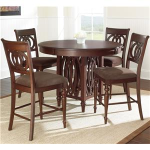 Vendor 3985 Dolly 5 Piece Counter Height Dining Set