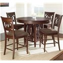 Steve Silver Dolly 5 Piece Counter Height Dining Set - Item Number: DL550PT+4xCC