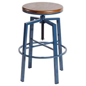 Backless Adjustable Barstool