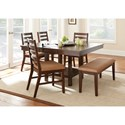 Vendor 3985 Eden Casual Cherry Dining Bench with Seat Cushion