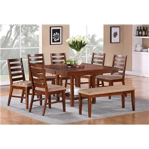 Vendor 3985 Eden 8-Piece Dining Set