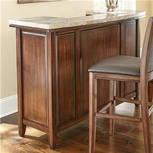 Morris Home Furnishings Eileen Marble Top Bar