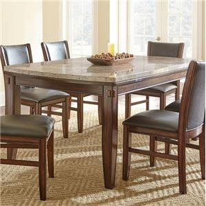 Morris Home Furnishings Eileen Marble Top Dining Table