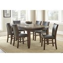 Steve Silver Eileen 7 Pc Dining Set - Item Number: EE540T+6XEE500S