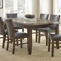 Steve Silver Eileen Brown Marble Top Table - Item Number: EE540T