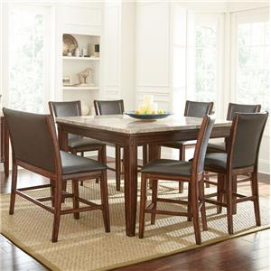 Morris Home Furnishings Eileen 8-Piece Counter Table and Stool Set