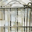 Morris Home Furnishings Ellen Metal Backers Rack - Stemware Rack