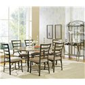 Morris Home Furnishings Ellen Metal Backers Rack - Shown with Rectangular Table and Side Chairs