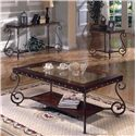 Steve Silver Ellery Rectangular Sofa Table - Shown with Cocktail Table & End Table.