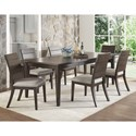 Steve Silver Elora 7 Piece Table and Chair Set - Item Number: EY500TK+6xSK