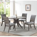 Steve Silver Elora 5 Piece Table and Chair Set - Item Number: EY5454TG+4x500SG