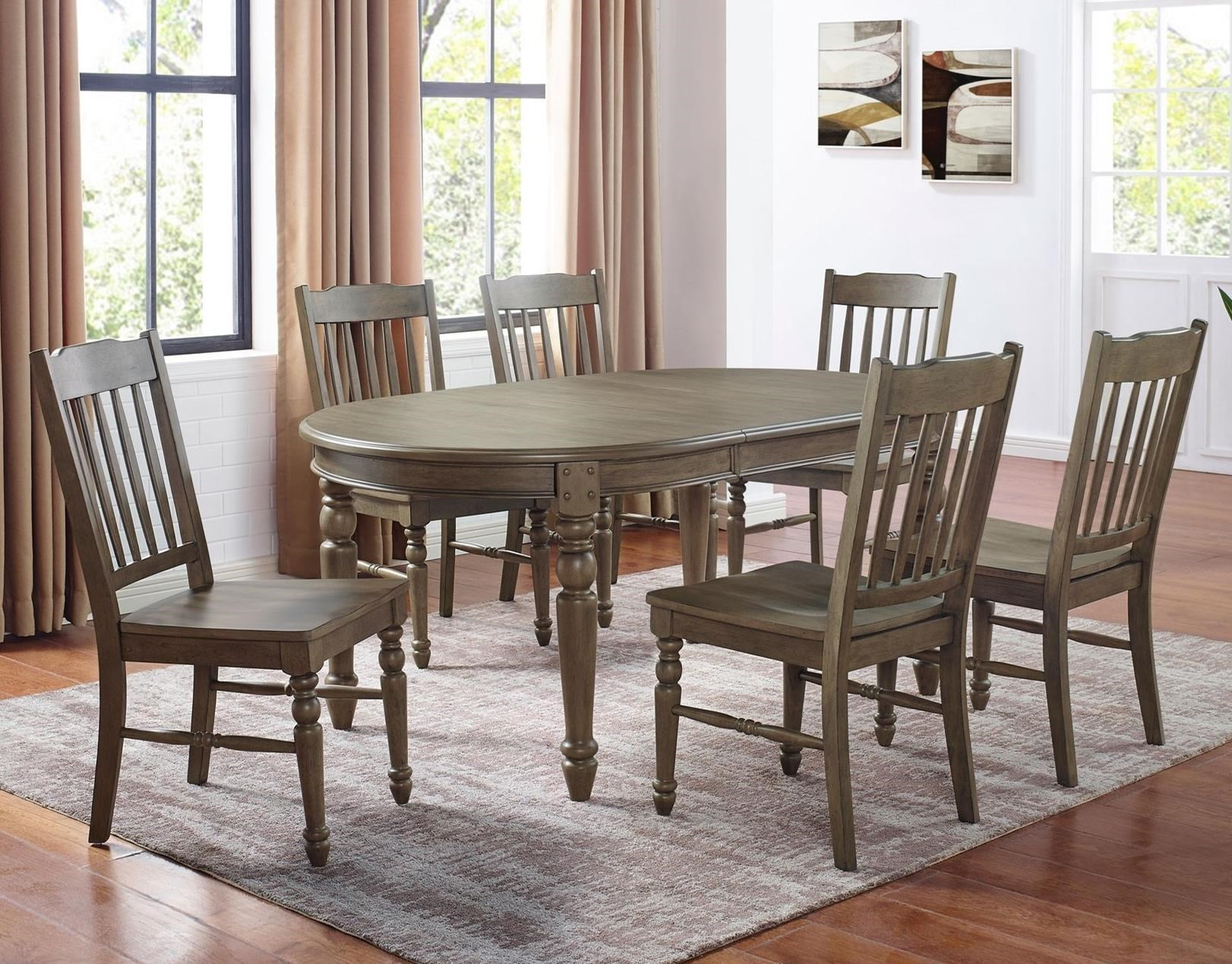 Emmett 7-Piece Table Set by Steve Silver at Walker's Furniture