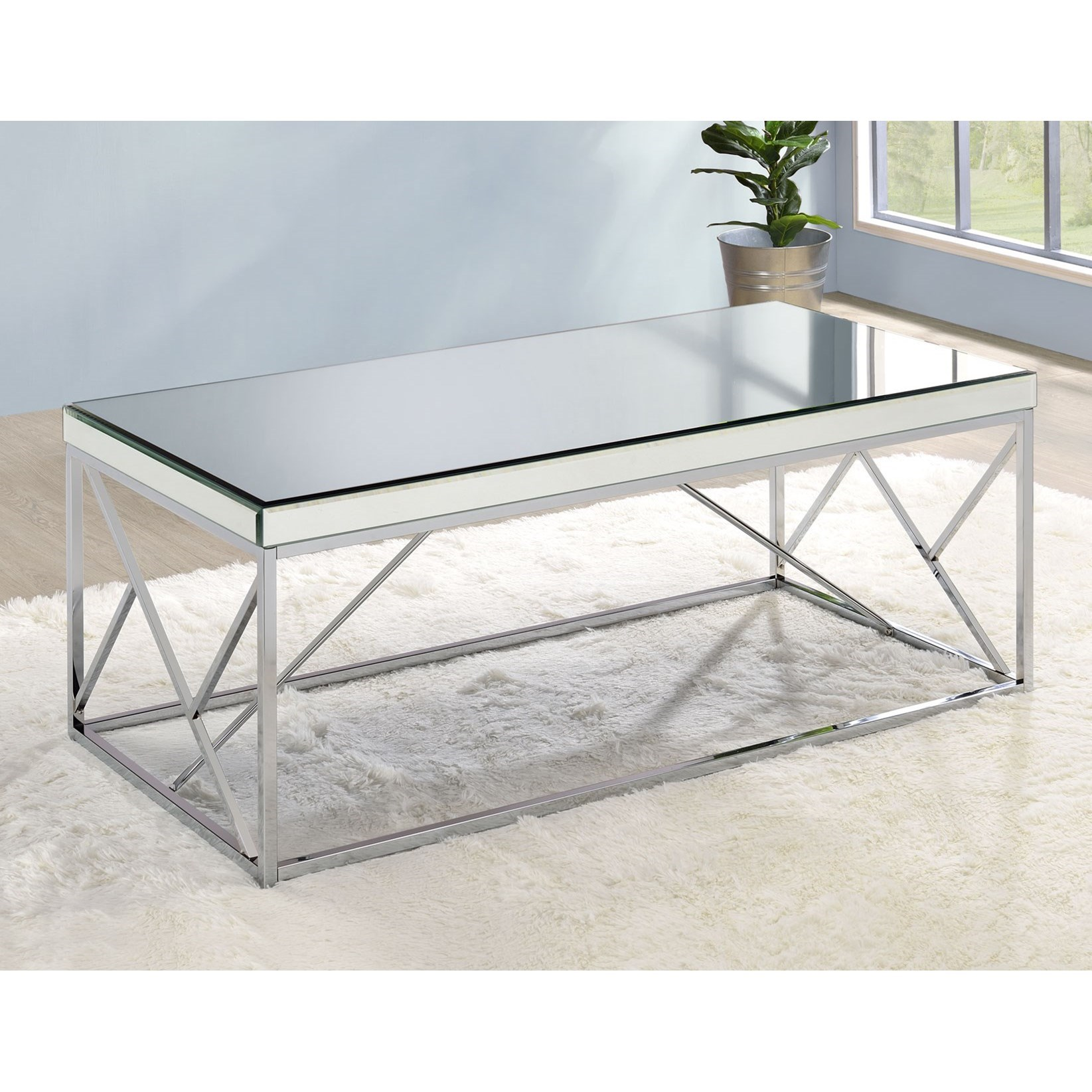 Evelyn Cocktail Table by Steve Silver at Walker's Furniture