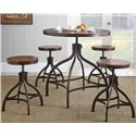 Steve Silver Fiona Adjusting Table and Chair Set - Item Number: FL3636PT+S+4x300CC