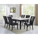 Steve Silver Francis 7 Piece Table and Chair Set - Item Number: FC500MT+500TL+6x550S