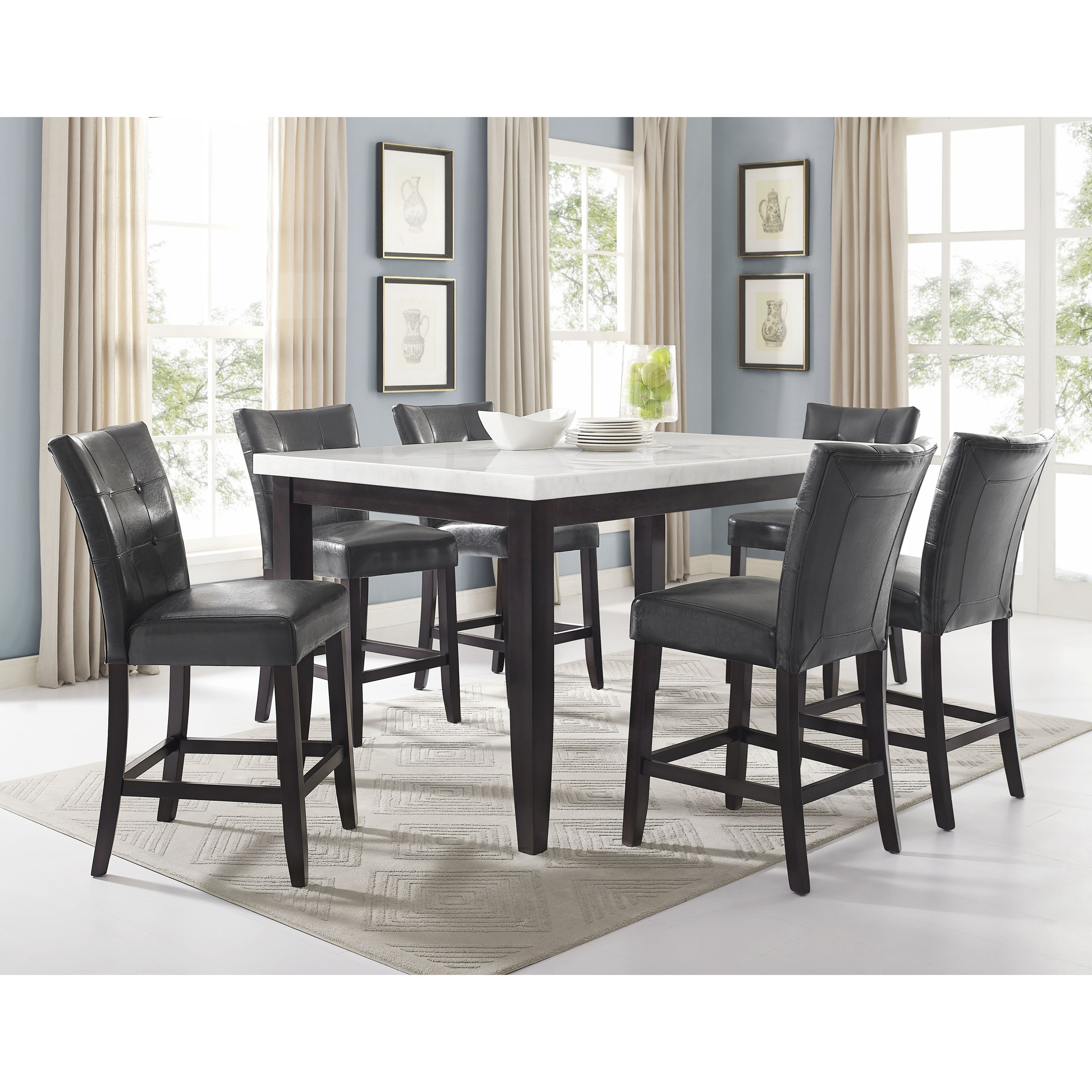 Francis 7 Piece Table and Chair Set by Steve Silver at Northeast Factory Direct