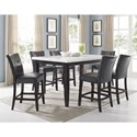 Prime Francis 7 Piece Table and Chair Set - Item Number: FC500MT+600TL+6x650CC