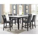 Vendor 3985 Francis 7 Piece Table and Chair Set - Item Number: FC500MT+600TL+6x650CC