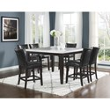 Steve Silver Francis 7 Piece Table and Chair Set - Item Number: FC5454MT+600TL+6x650CC