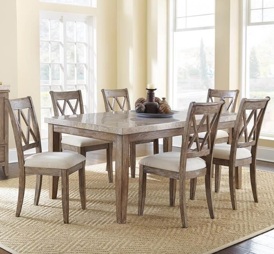7 Piece Marble Top Dining Set