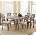 Vendor 3985 Franco 7 Piece Marble Top Dining Set - Item Number: FR500WT+6xS