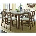 Vendor 3985 Franco 9 Piece Marble Counter Height Dining Set - Item Number: FR5454WPT+8x600CC