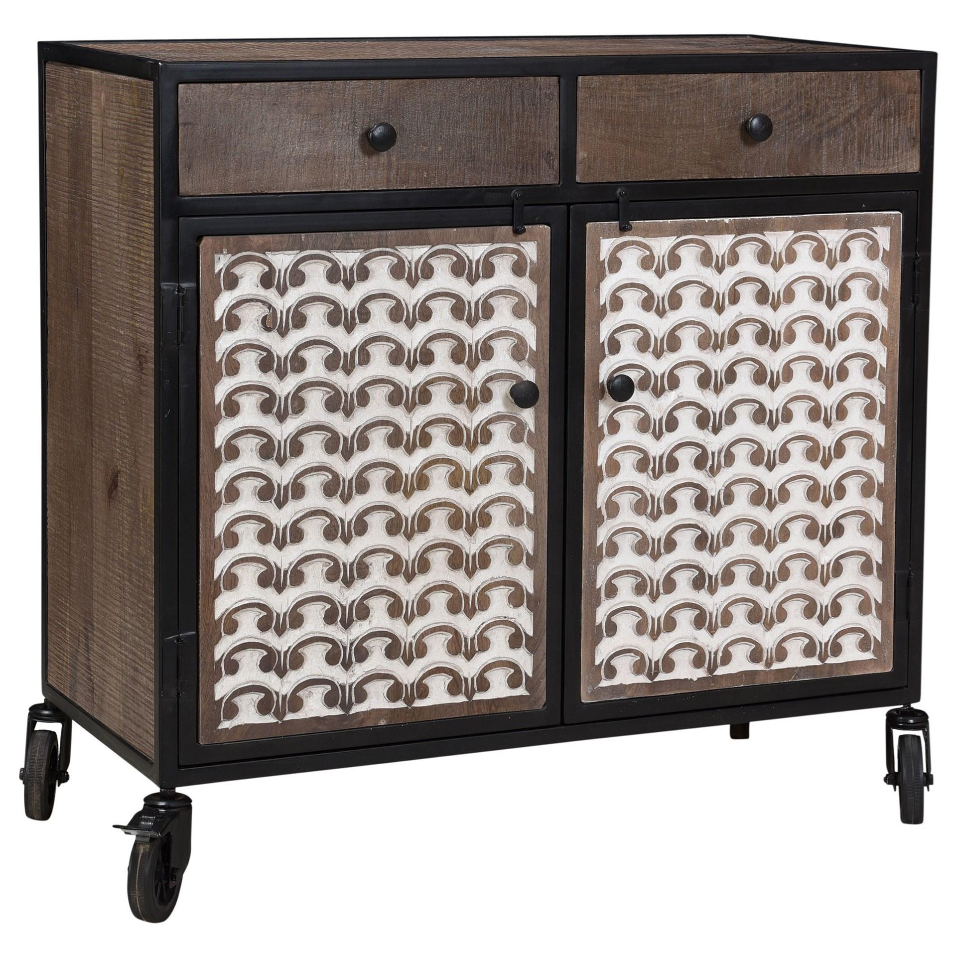 Garrett Accent Cabinet by Steve Silver at Walker's Furniture