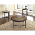 Steve Silver Gianna Round End Table with Metal Base
