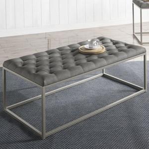 Steve Silver Glenda Upholstered Tail Table