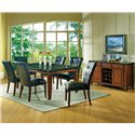 Steve Silver Granite Bello Black Parson Side Chair - Shown in 7-Piece Dining Set with Server
