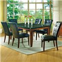 Steve Silver Granite Bello 7-Piece Dining Set - Item Number: MG500T+6xMG500S