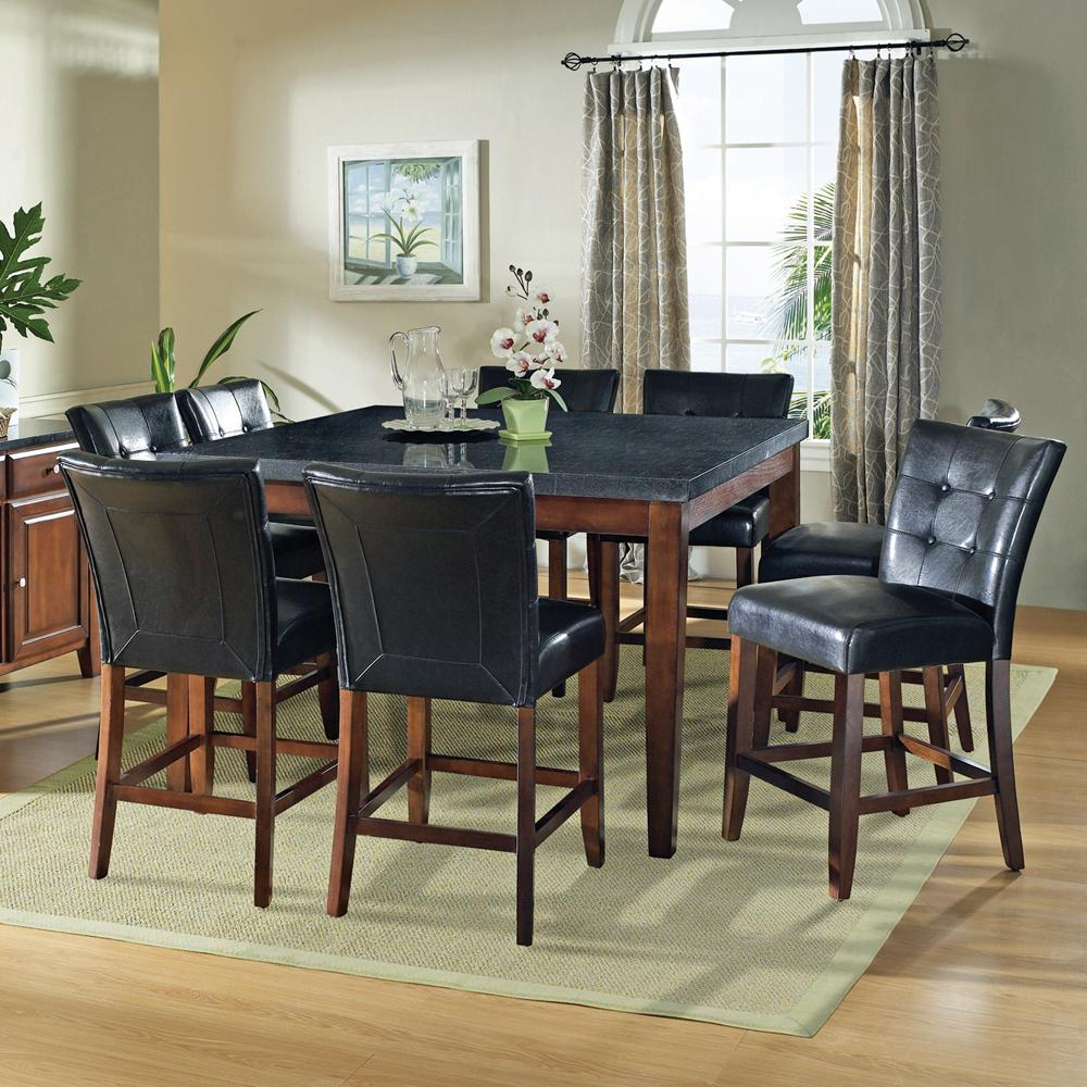 Steve Silver Granite Bello 9-Piece Gathering Table Set - Item Number: MG5454PT+8xMG600CC