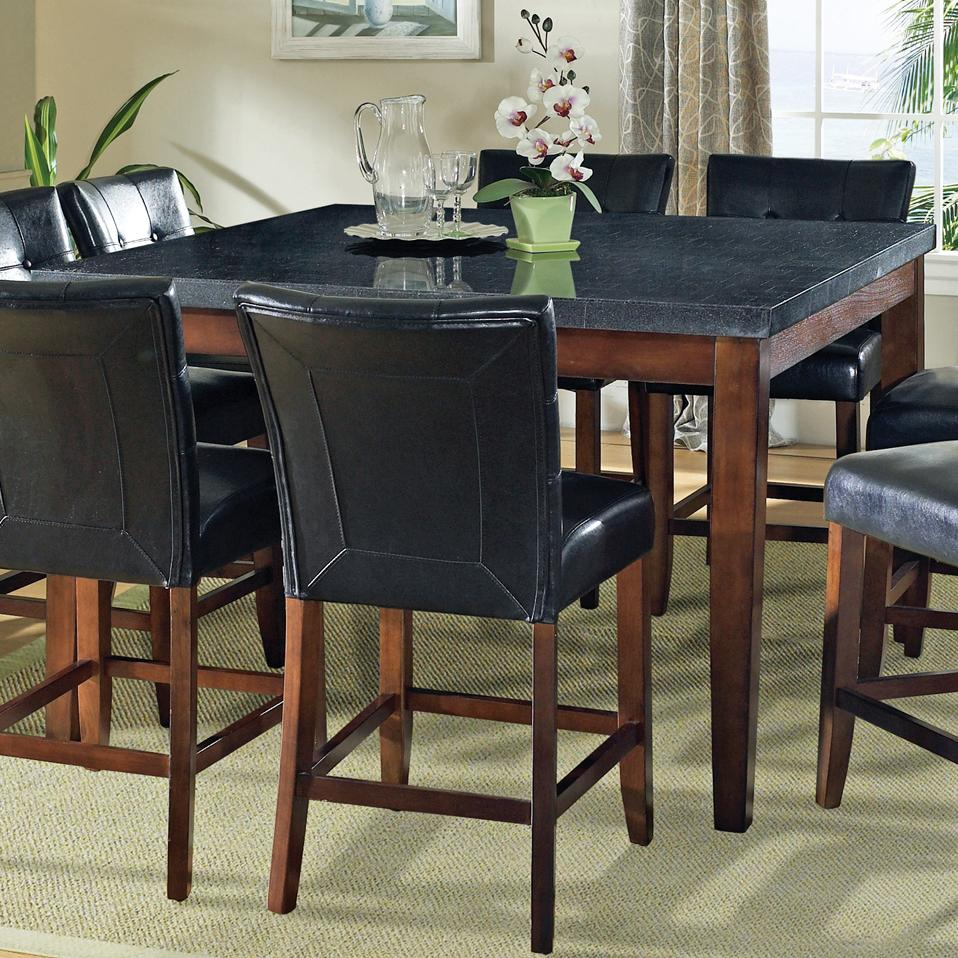 Steve Silver Granite Bello Granite Top Counter Height Leg Table - Hudsonu0026#39;s Furniture - Pub Table