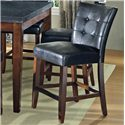 Vendor 3985 Granite Bello Black Vinyl Counter Height Parsons Chair - Item Number: MG600CC