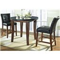Morris Home Furnishings Granite Bello Black Vinyl Counter Height Parsons Chair - Shown in 3-Piece Pub Set