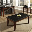 Steve Silver Granite Bello Rectangular Granite Top Cocktail Table - Shown with Coordinating End and Sofa Table