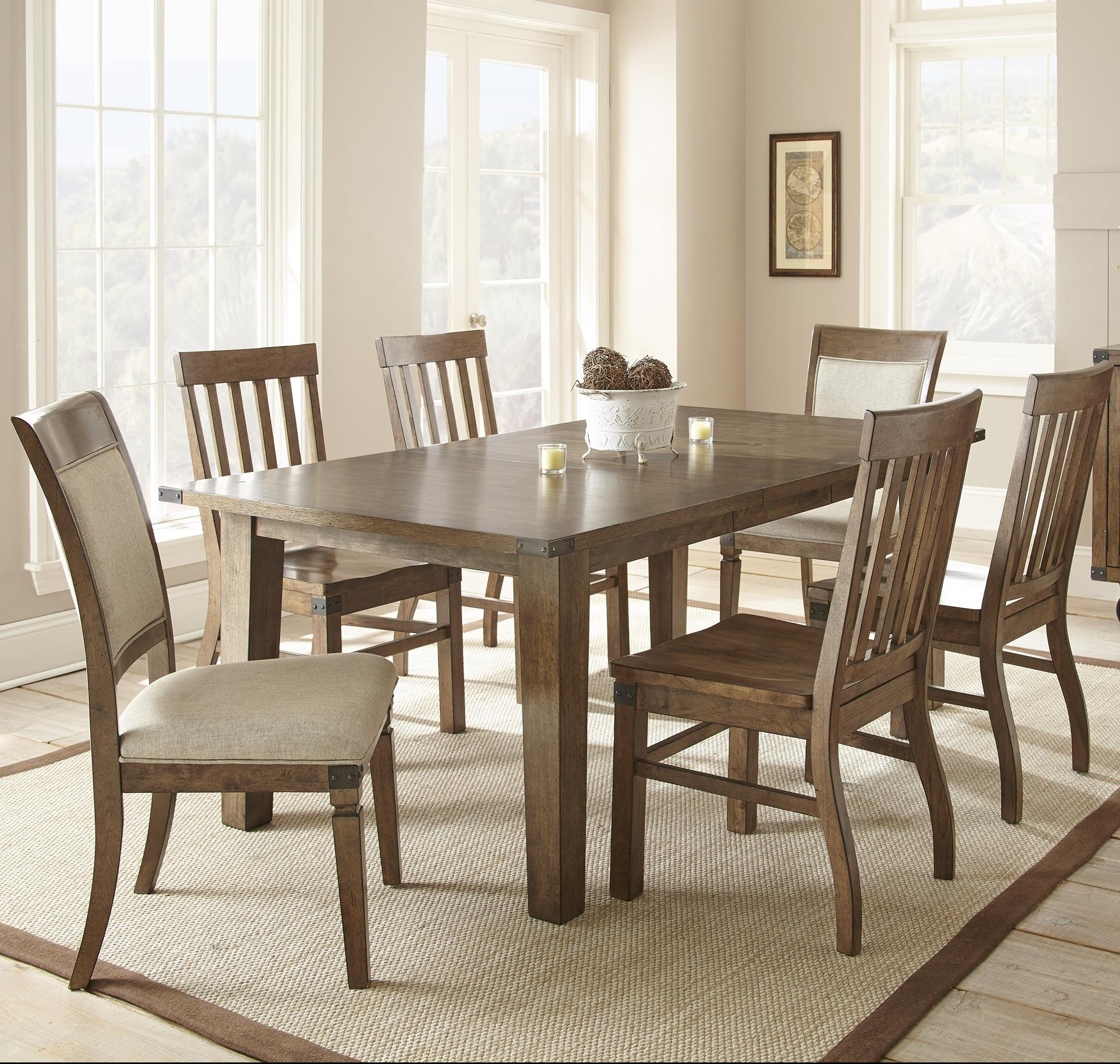 Steve Silver Hailee 7 Piece Dining Set   Item Number: HA500T+2xS+4x450S