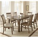 Vendor 3985 Hailee 7 Piece Dining Set - Item Number: HA500T+2xS+4x450S
