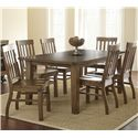 Steve Silver Hailee 7 Piece Dining Set - Item Number: HA500T+6x450S
