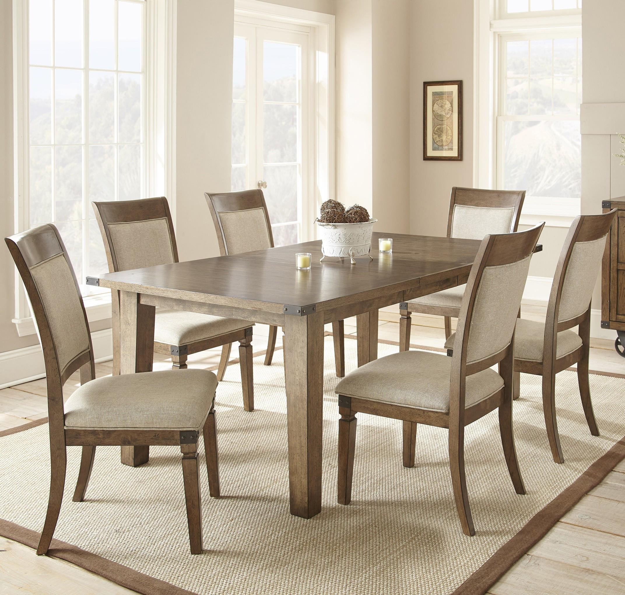 Steve Silver Hailee 7 Piece Dining Set - Item Number: HA500T+6xS