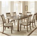 Morris Home Furnishings Hailee 7 Piece Dining Set - Item Number: HA500T+6xS