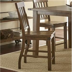Morris Home Furnishings Hailee Slat Back Counter Chair