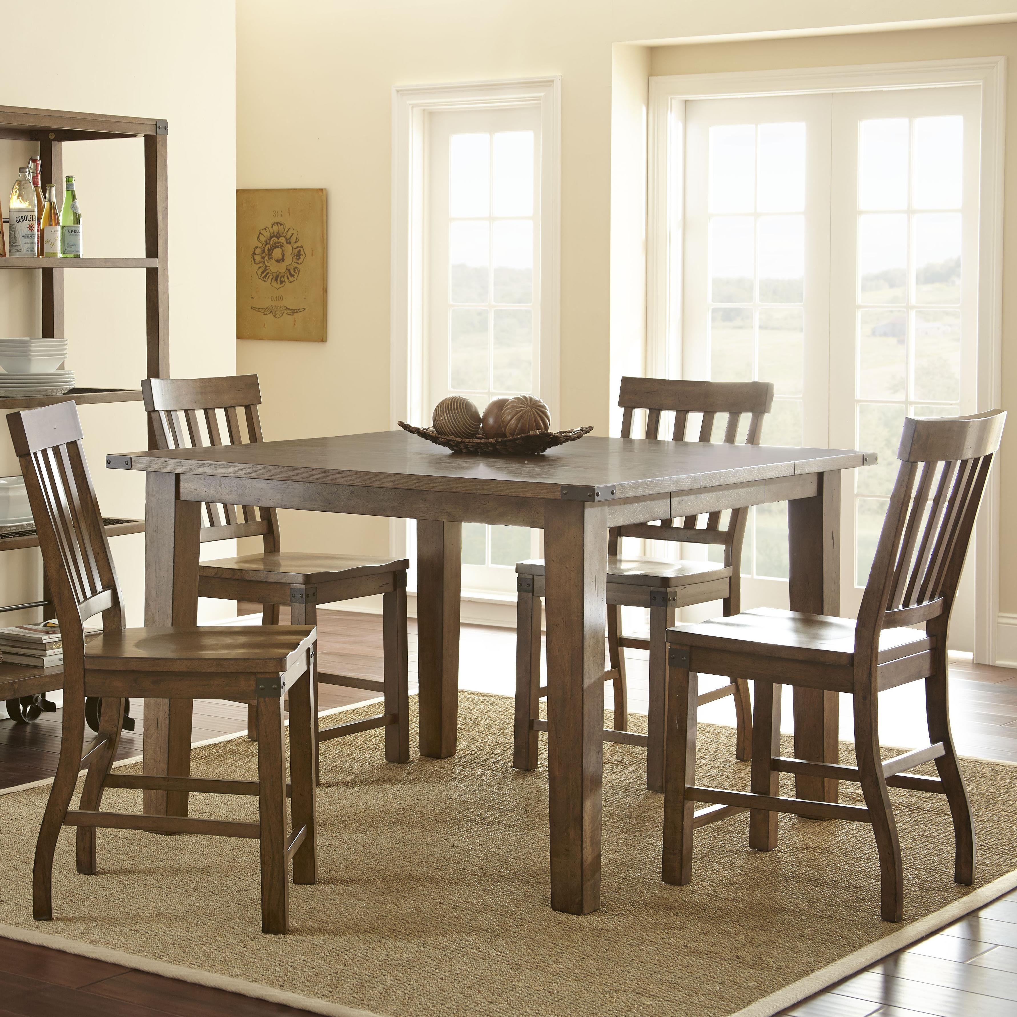 Steve Silver Hailee 5 Piece Counter Dining Set - Item Number: HA700PT+4xCC