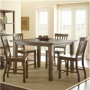 Morris Home Furnishings Hailee 5 Piece Counter Dining Set
