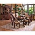 Morris Home Furnishings Harmony  Traditional Upholstered Seat Dining Side Chair - Shown in 7-Piece Dining Set with Buffet & Hutch