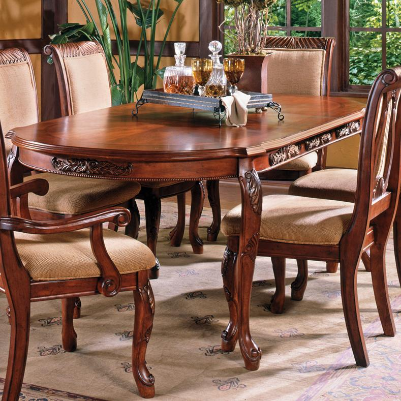 Steve Silver Harmony 7 Piece Oval Dining Room Set In: Steve Silver Harmony Traditional Cabriole Leg Dining Table