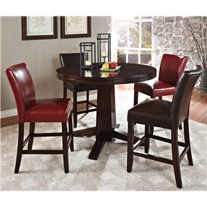 Steve Silver Hartford 5 Piece Counter Height Dining Set