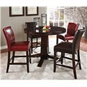 Vendor 3985 Hartford 5 Piece Counter Height Dining Set - Item Number: HF480PB+T+2x600CCBR+2x600CCRD
