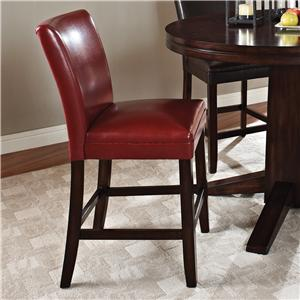 "Morris Home Furnishings Glenhaven Glenhaven 24"" Red Barstool"