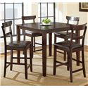 Steve Silver Howard 5 Piece Counter Height Dining Set - Item Number: HO2000